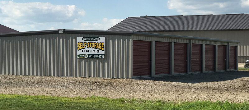 Exterior of Ackley Storage Units