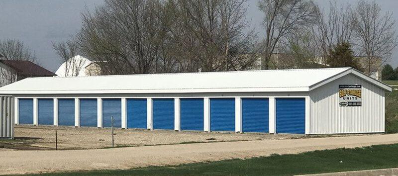 Exterior of Allison Storage Units