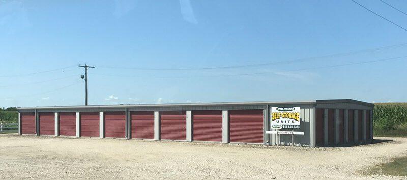 Exterior of Hubbard Storage Units