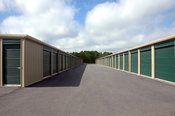 Exterior of a row of Storage Units